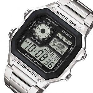 Casio World Time Stainless Steel Digital Watch